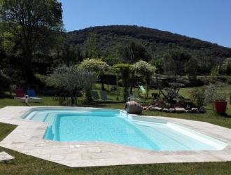 vue piscine chauffée rochebelle